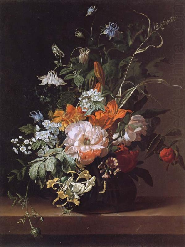 "Rachel Ruysch. ""Flowers in a Vase' hangs in the National Gallery in London"