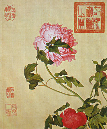 Peonies painted at the beginning of the eighteenth century by Giuseppe Castiglione, an Italian missionary to China